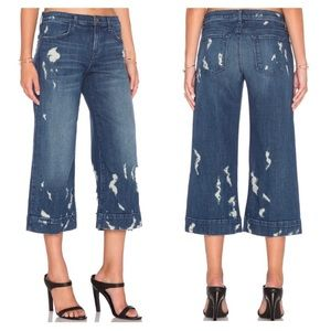 J Brand Liza Mid Rise Distressed Culottes Size 29